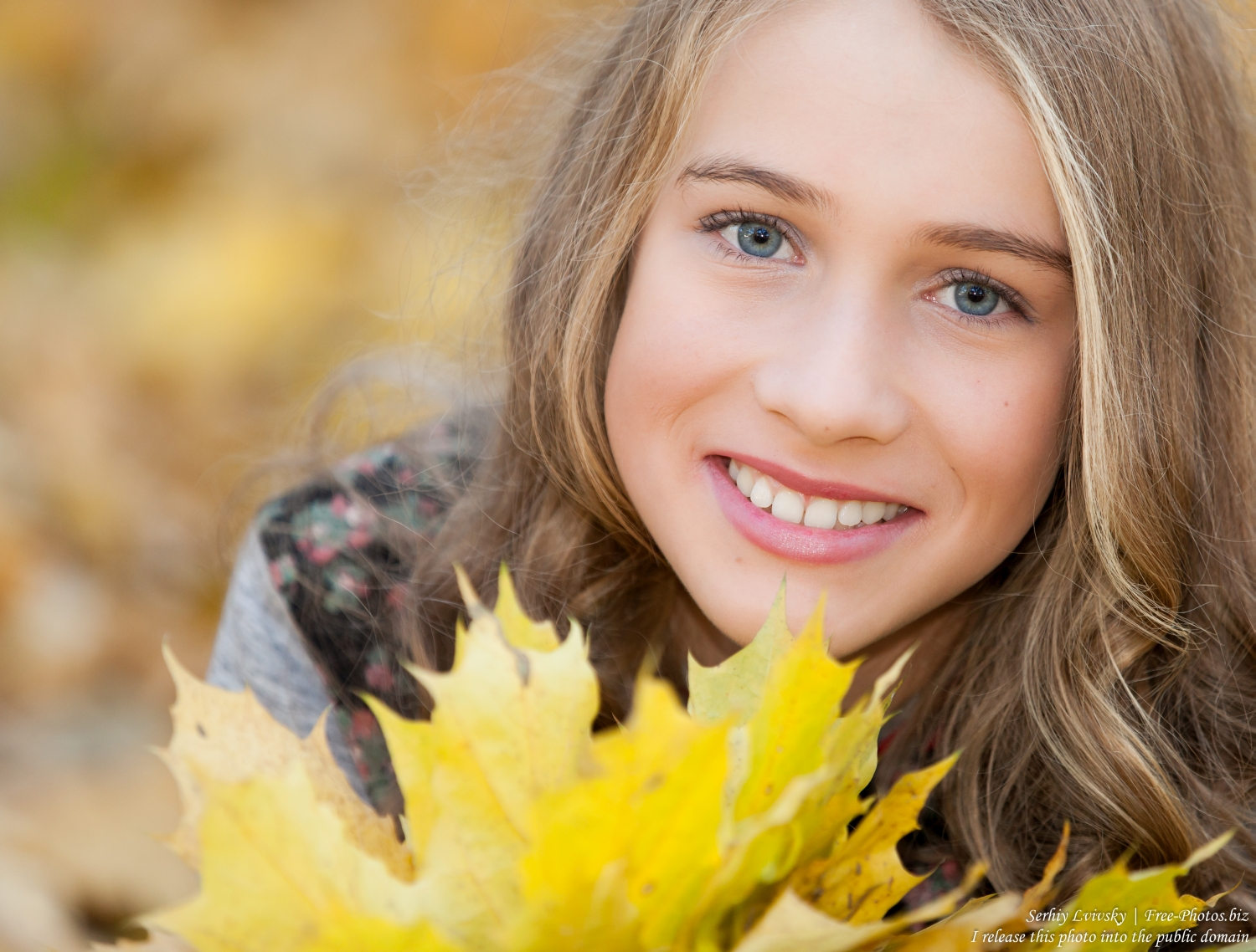 a 13-year-old girl photographed by Serhiy Lvivsky in October 2015