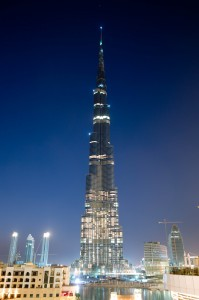 Burj Dubai at night
