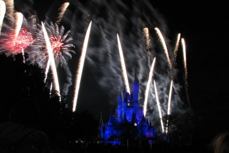 Cinderella Castle and Wishes 2