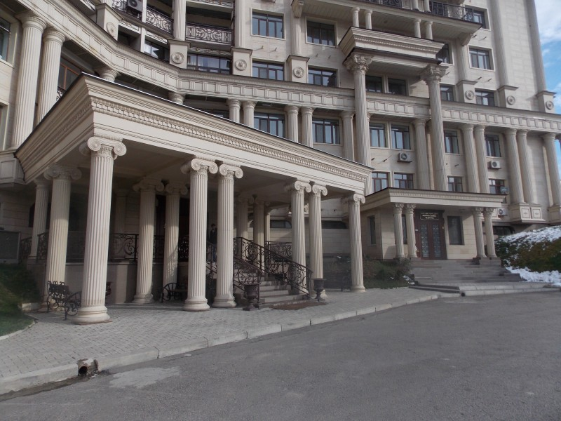 Europolis complex, Almaty - Porches of offices.