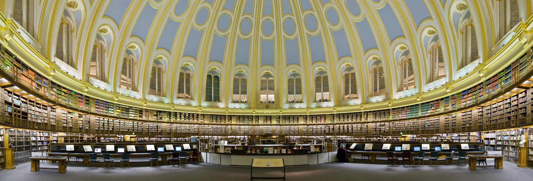 British Museum Reading Room Panorama Feb 2006