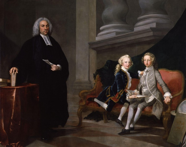 Francis Ayscough with the Prince of Wales (later King George III) and Edward Augustus, Duke of York and Albany by Richard Wilson
