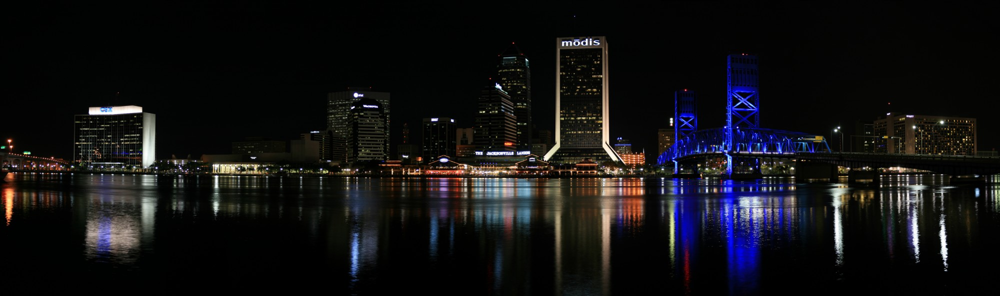 Jacksonville Skyline Night Panorama Digon3