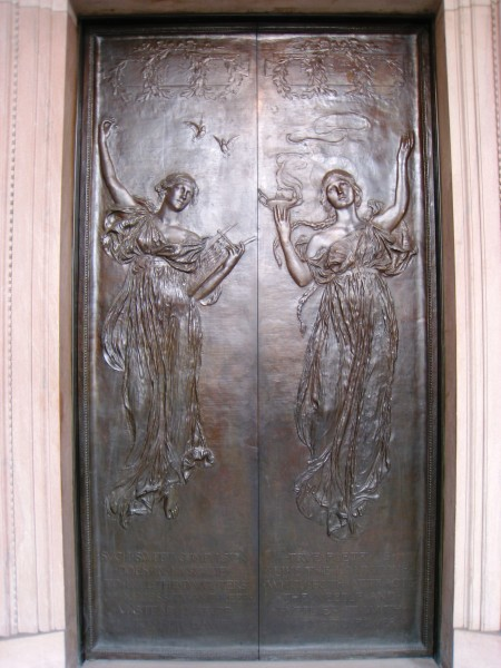 Left door by Daniel Chester French, Boston Public Library