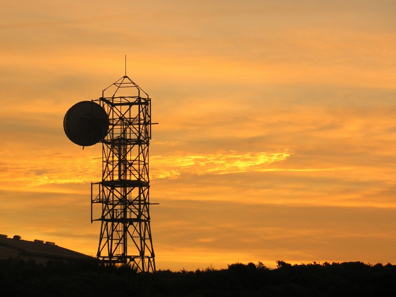 Microwave tower silhouette-2
