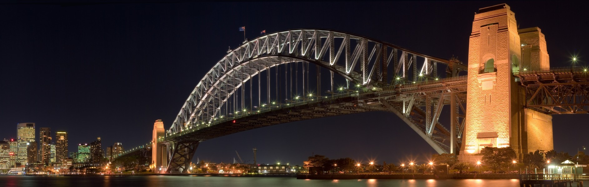 Sydney Harbour Bridge night croped