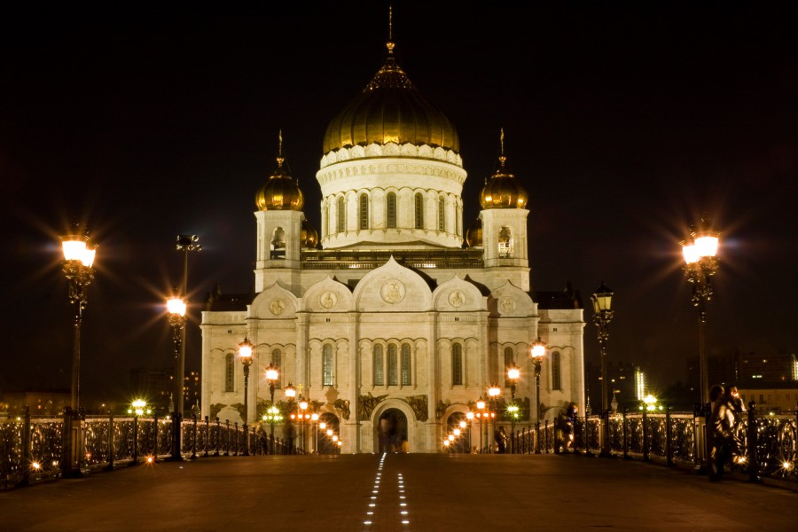 Temple of Christ the Savior view from Patriarchy Bridge