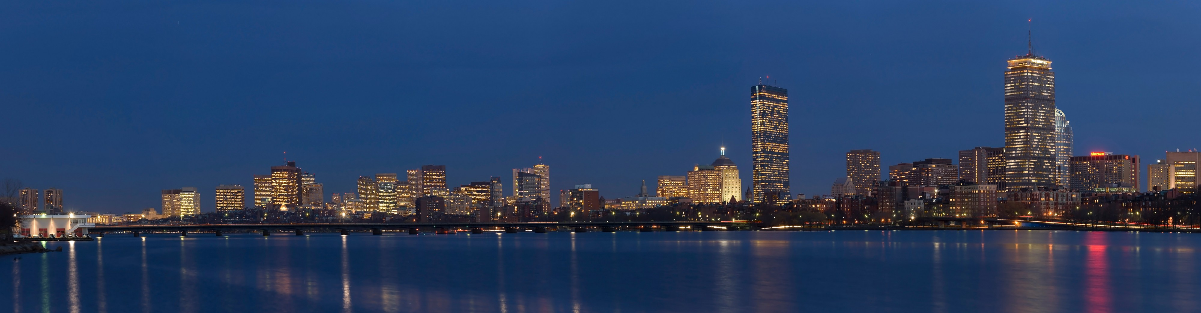 Boston Skyline Panorama Dusk Edit 1