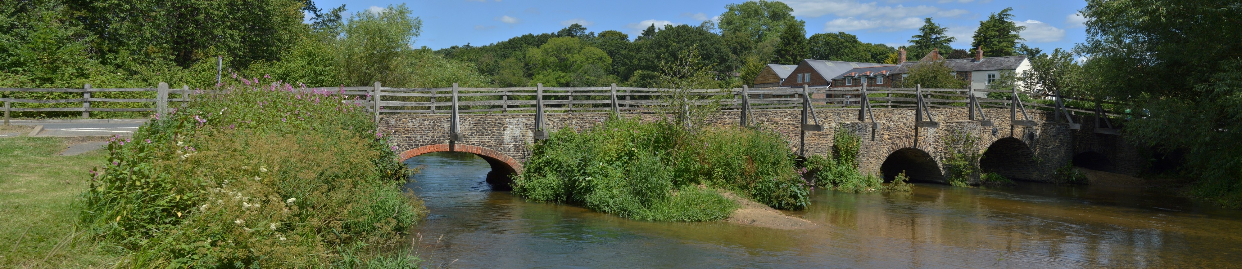 Bridge over the River Wey, Tilford (north east side of green) 2