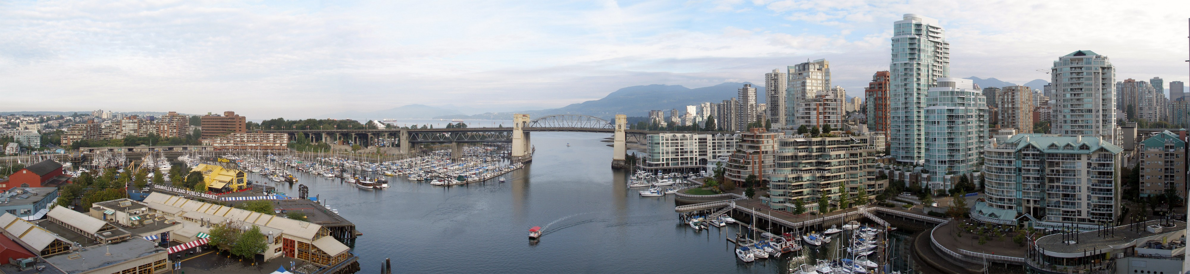 Burrard bridge from granville bridge vancouver