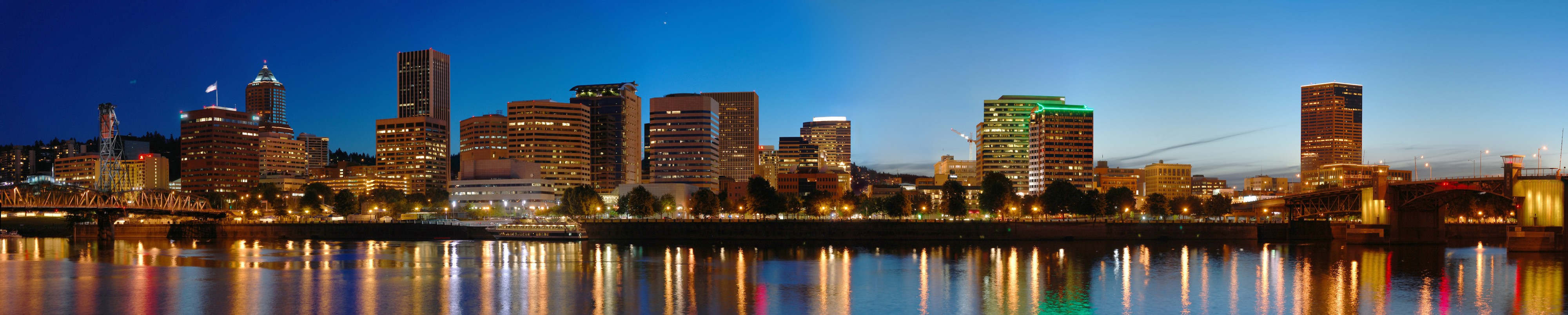 Portland Night panorama
