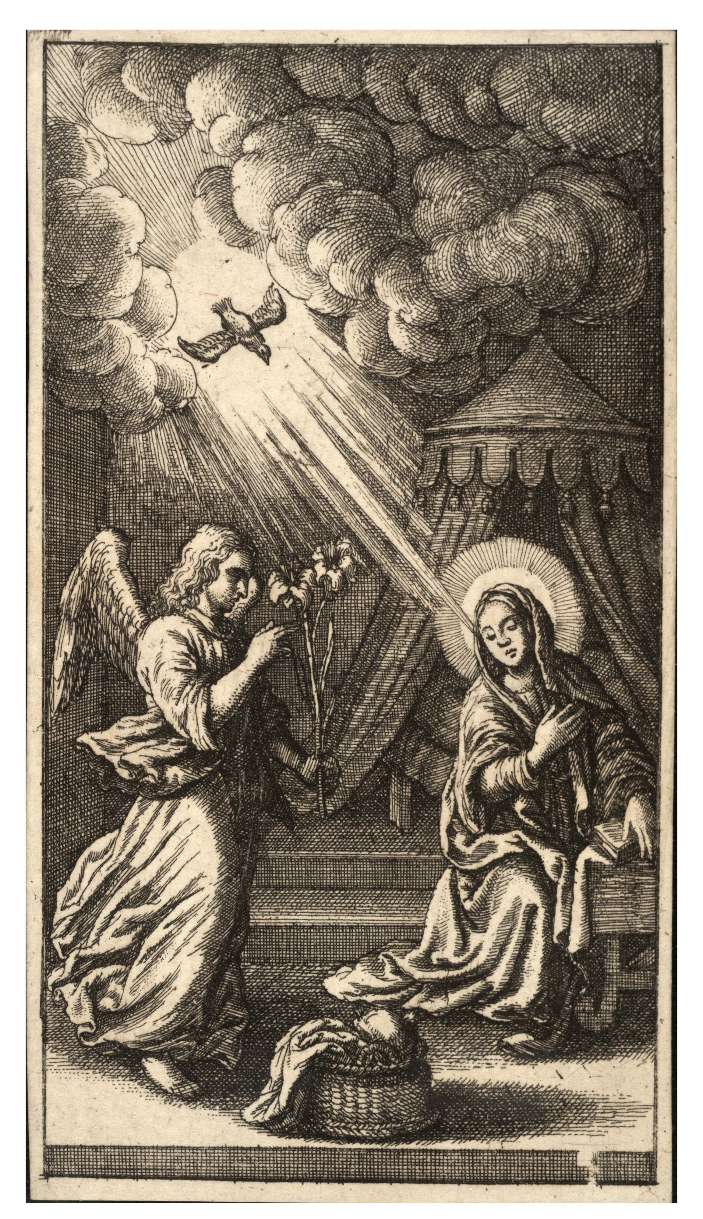 Wenceslas Hollar - Annunciation