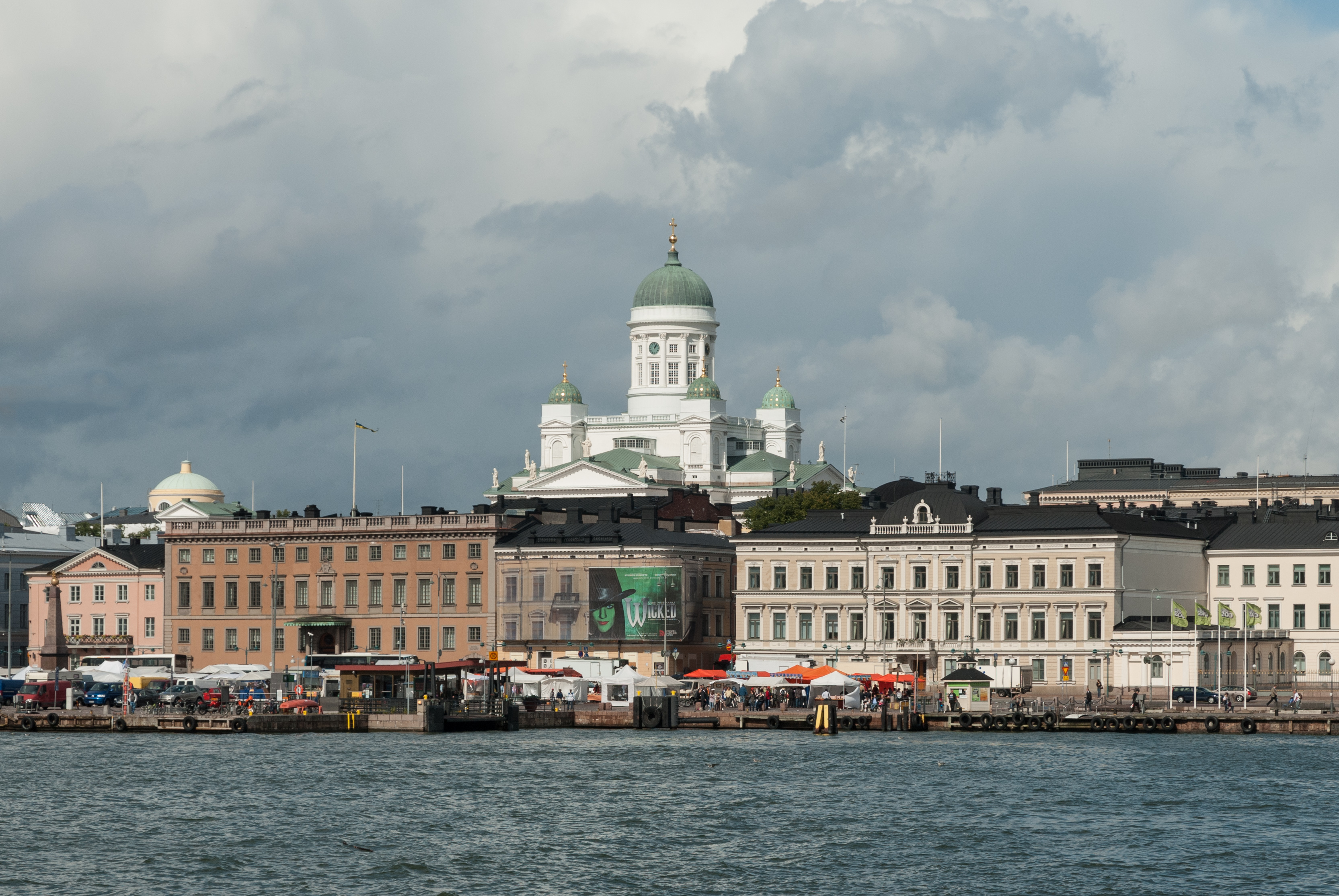 Buildings near Kauppatori and Helsinki Cathedral 20100825 1