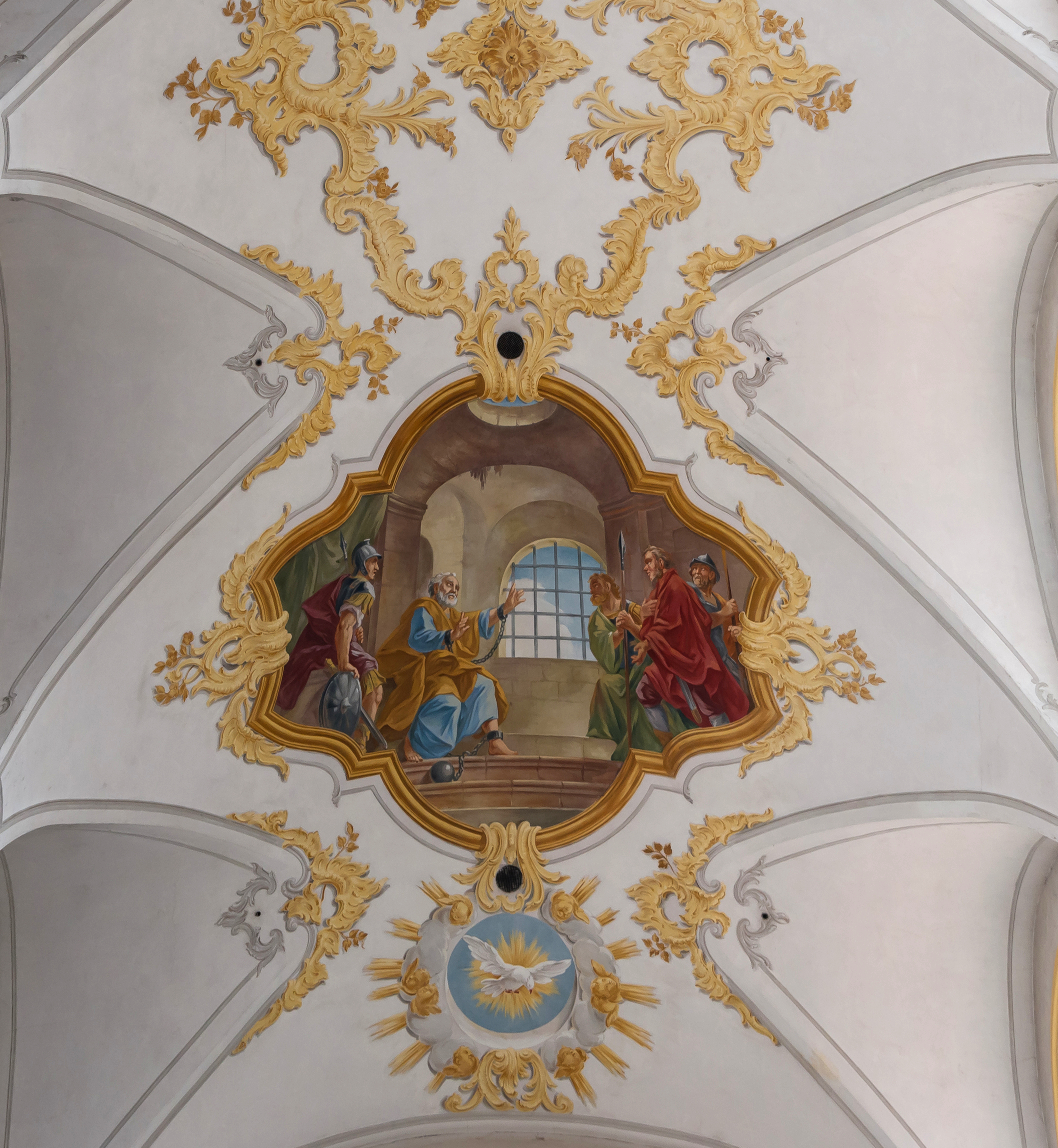 Ceiling Peterskirche Munich