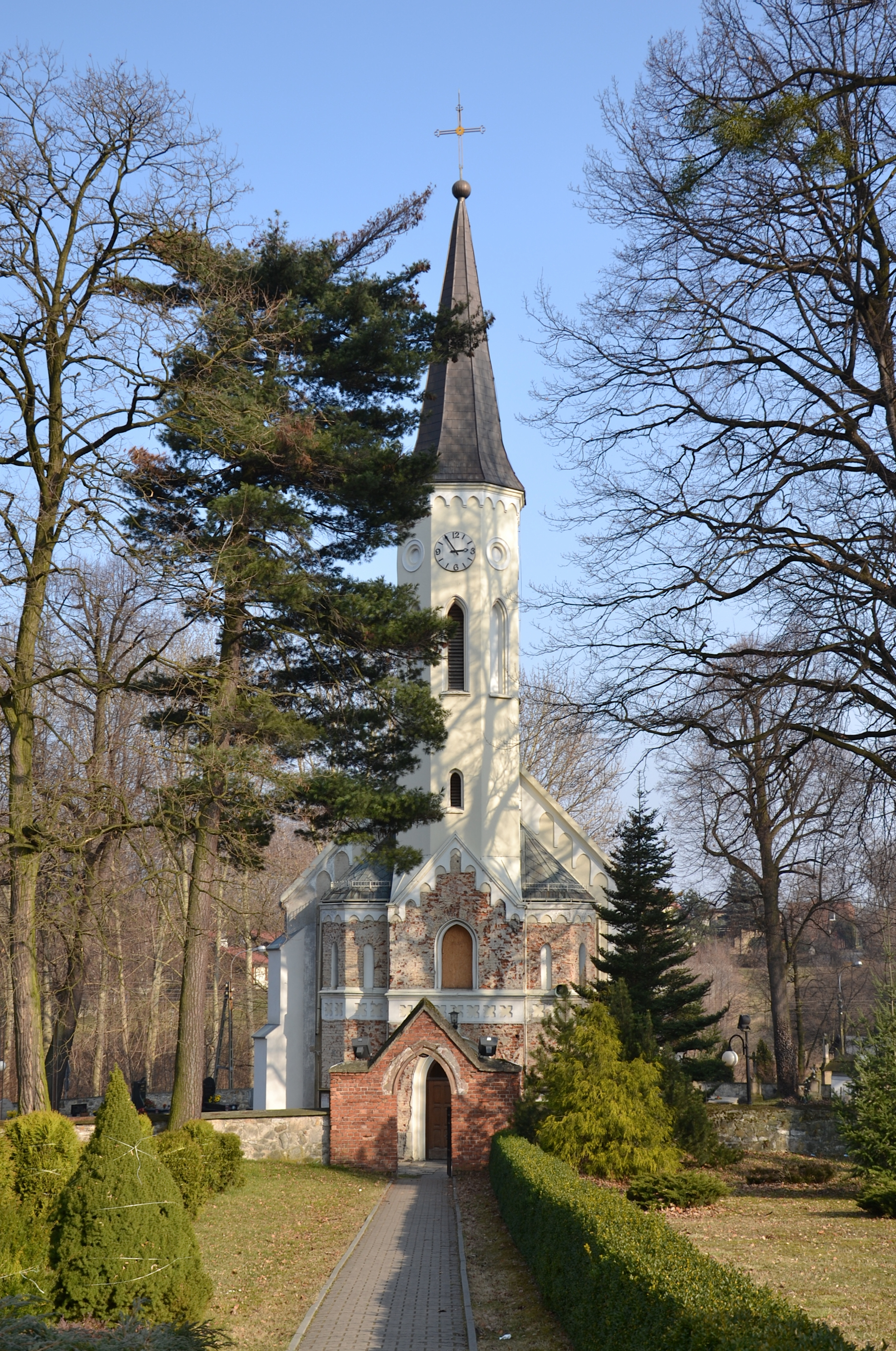 Church of St. Lawrence in Mokre (Mokrau), Silesia