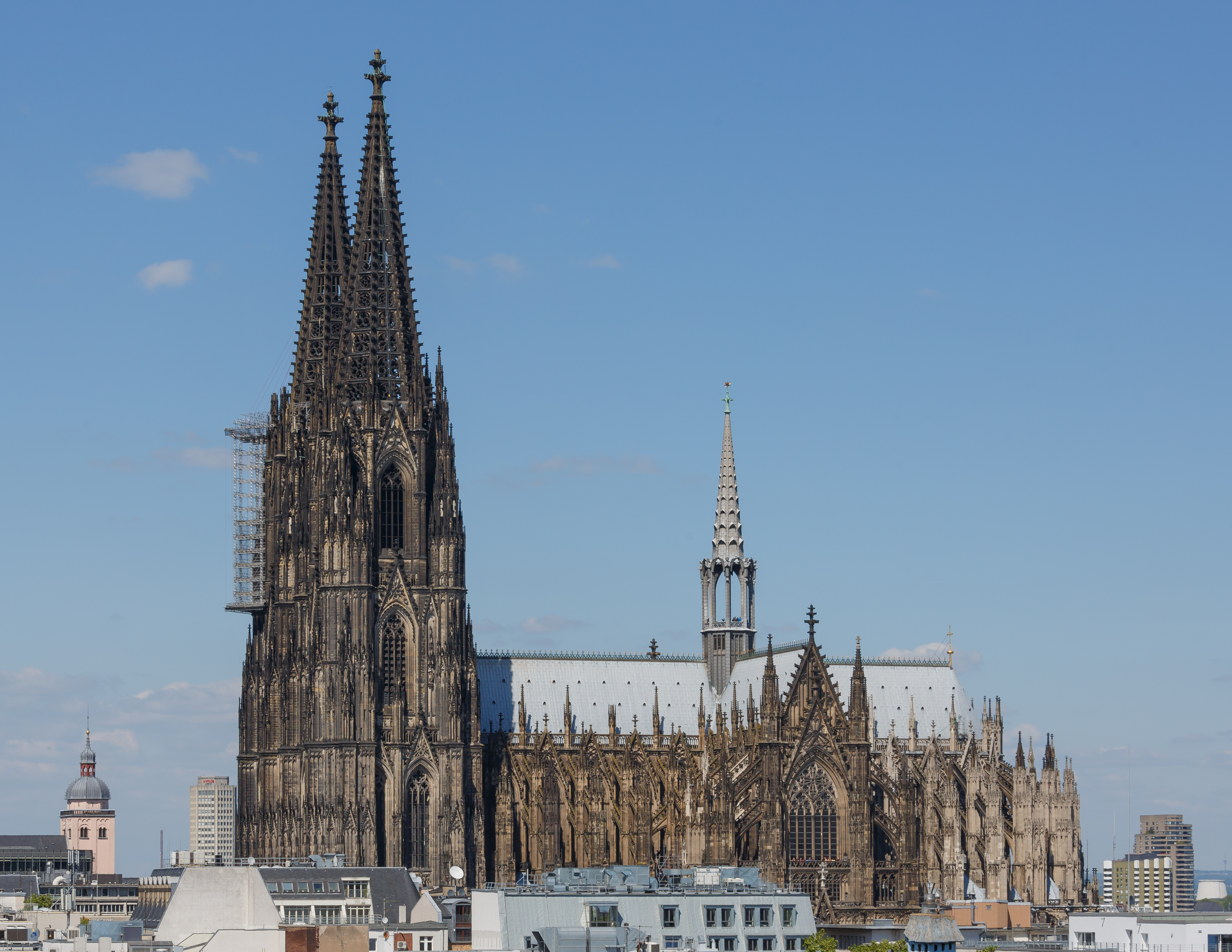Cologne Germany Exterior-view-of-Cologne-Cathedral-01