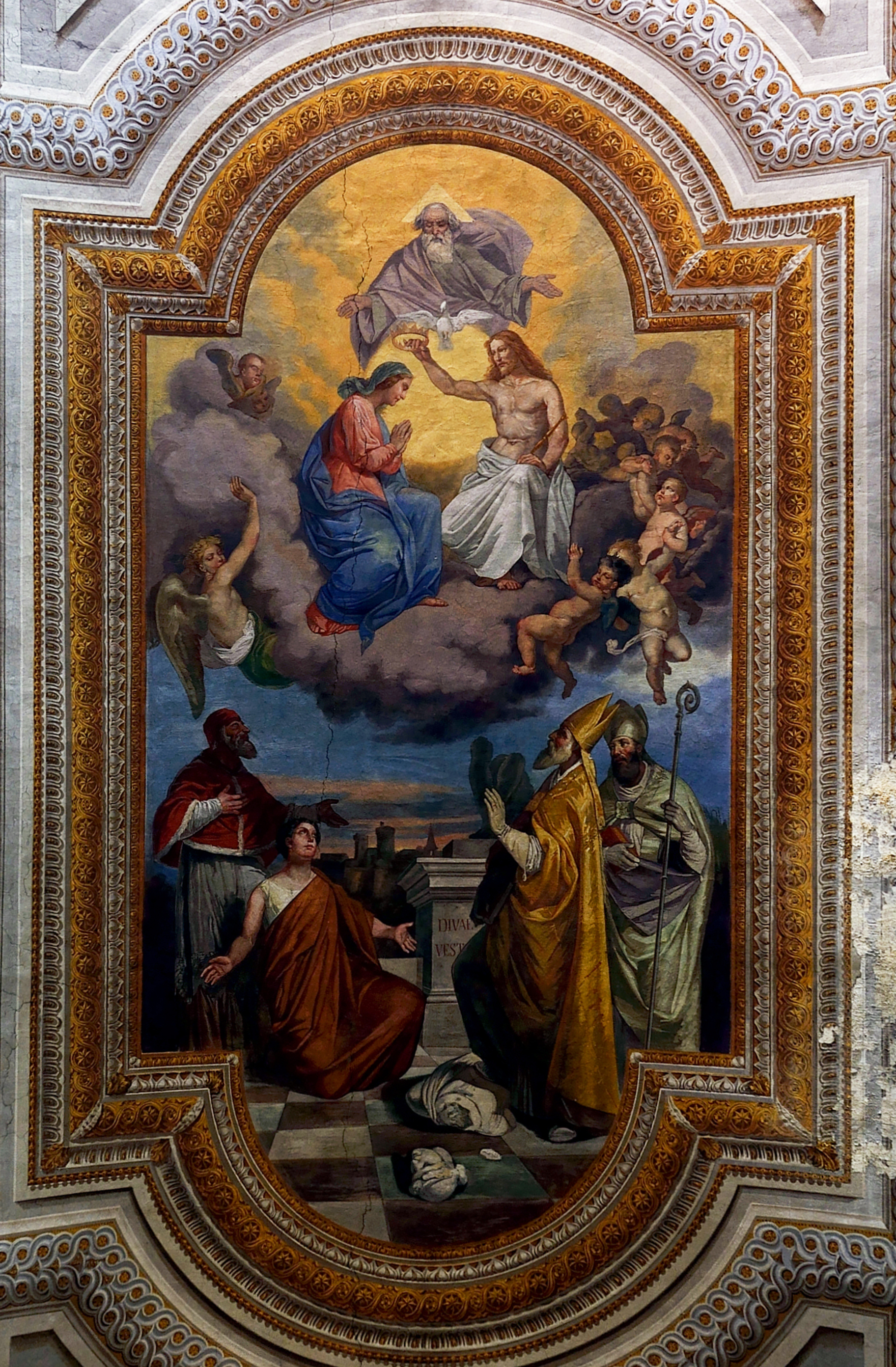 Fresco of the cathedral of Nepi