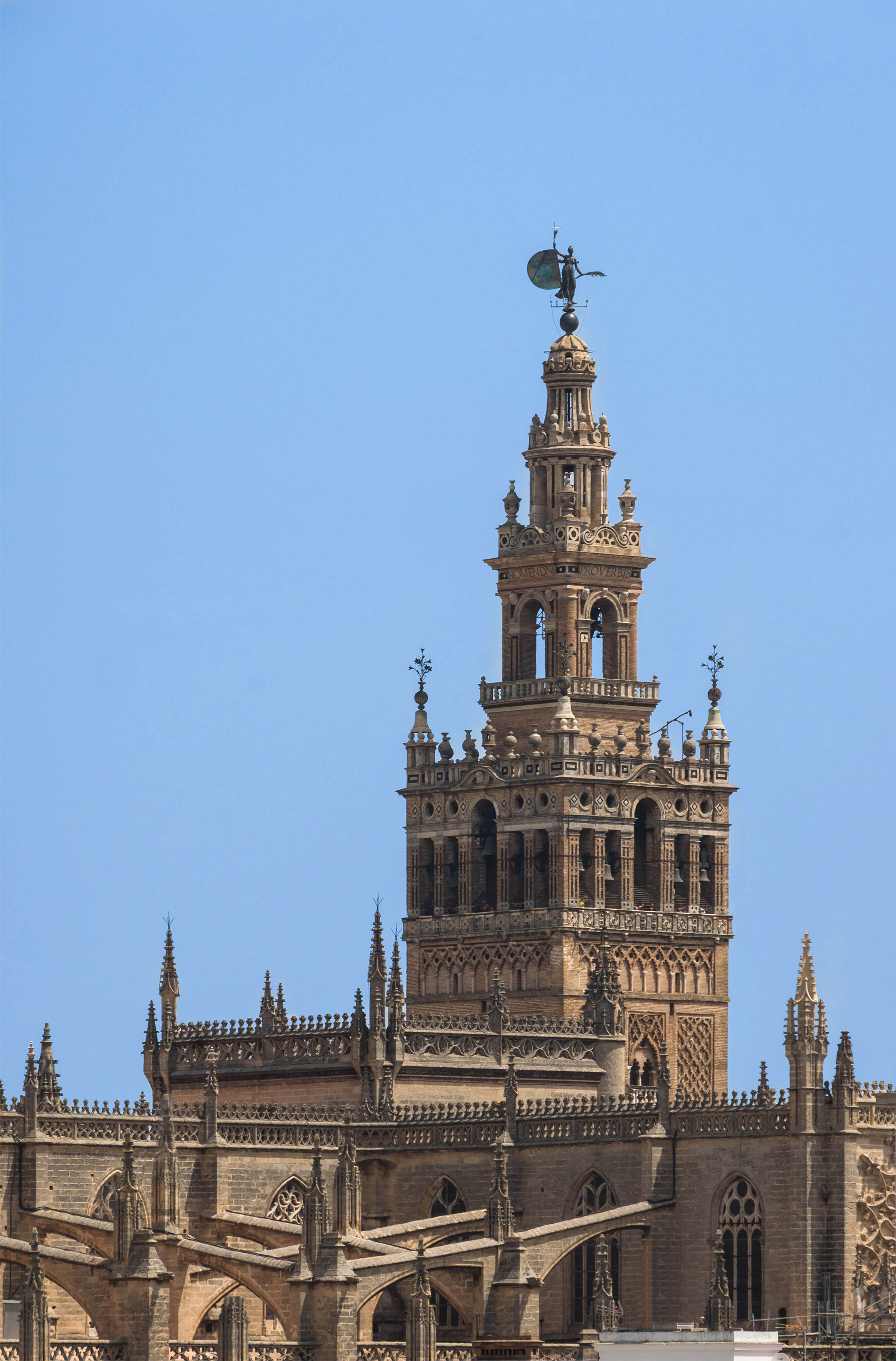 Giralda roof cathedral Seville Spain