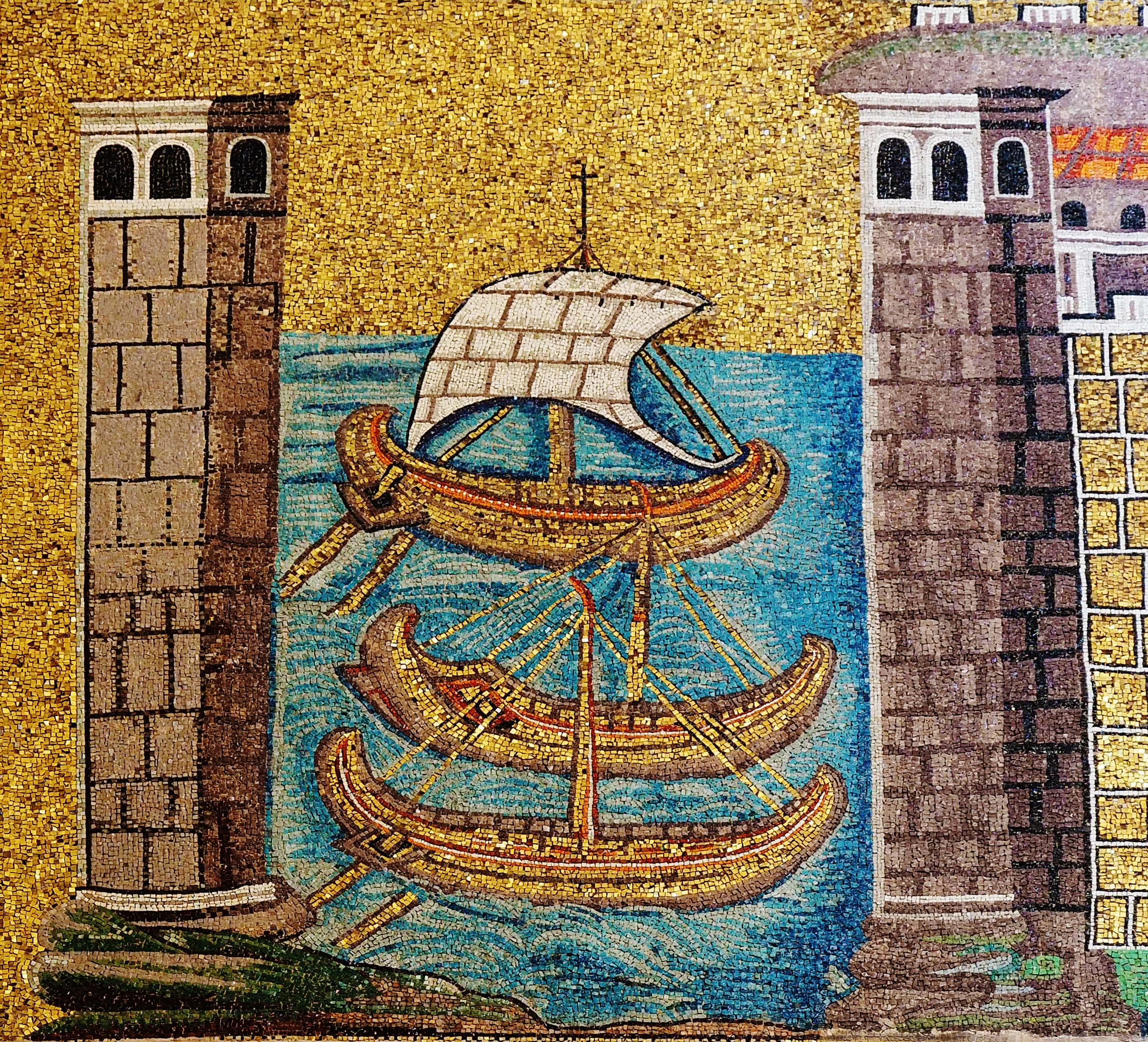 Mosaic of Classe, ancient port of Ravenna (Basilica of Sant'Apollinare Nuovo)