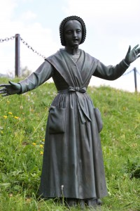 a statue in the La Salette sanctuary, France, Europe, August 2013, picture 7
