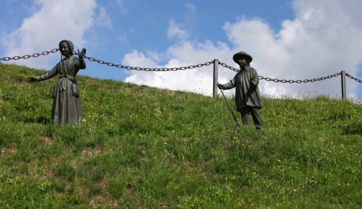 statues in the La Salette sanctuary, France, Europe, August 2013, picture 10