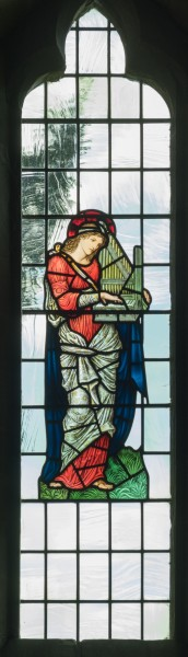 All Saints church, Preston Bagot - Saint Cecilia stained glass window 2016