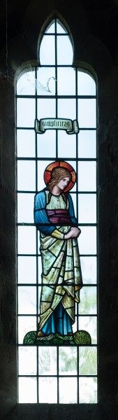 All Saints church, Preston Bagot - Simplicitas stained glass window 2016