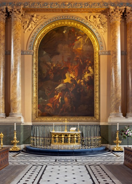 Altar in chapel at Greenwich Hospital, London
