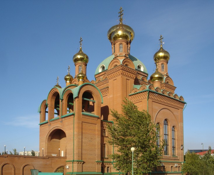 Annunciation Orthodox Cathedral, Pavlodar. Main view, south-western side