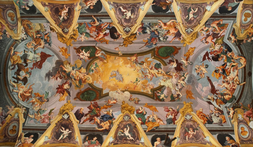 Baroque ceiling frescoes (Ljubljana Cathedral)