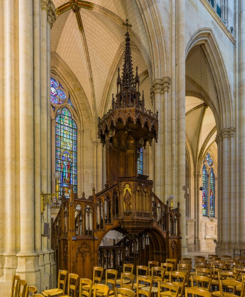 Basilica of Saint Clotilde Pulpit, Paris, France - Diliff