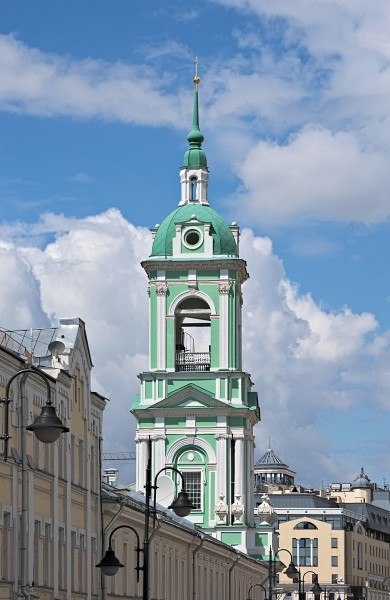 Bell tower of Church of Beheading of John the Baptist in Moscow