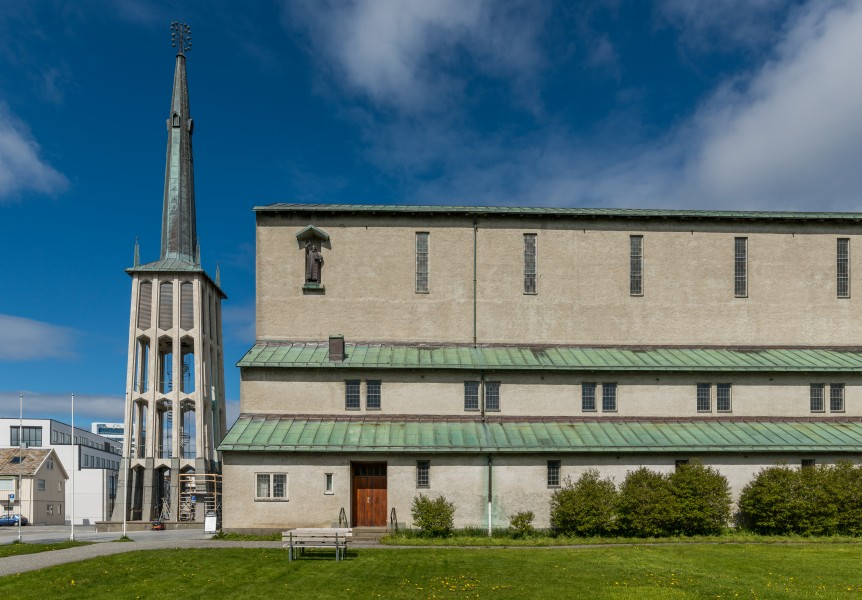 Bodø Cathedral, Southeast view 20150608 1