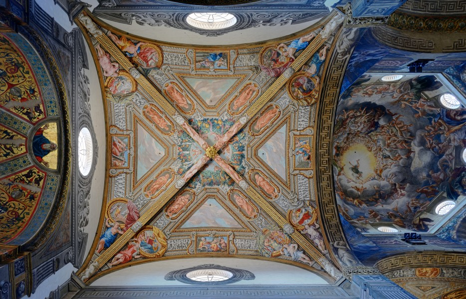 Cathedral (Parma) - Ceiling of left chapel and dome