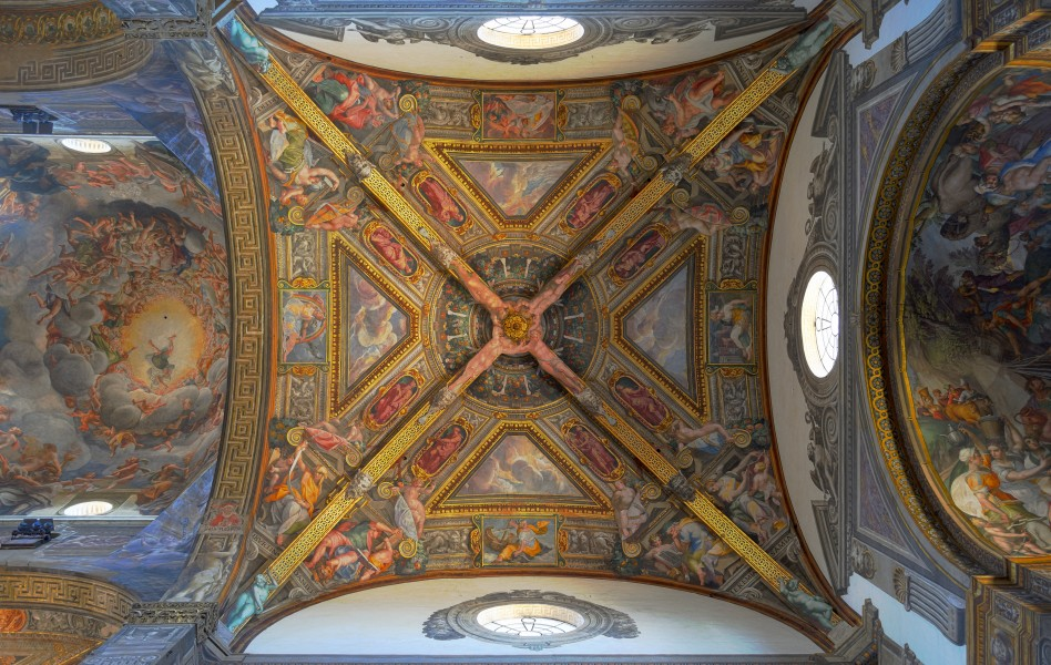 Cathedral (Parma) - Ceiling of right chapel and dome