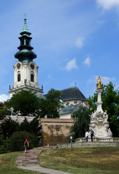 Cathedral Basilica of St Emmeram and Plague column in Nitra (Nyitra)