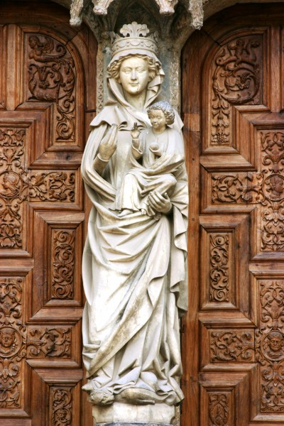 Cathedral of León - White Virgin on the Door of the Judgement (west facade)
