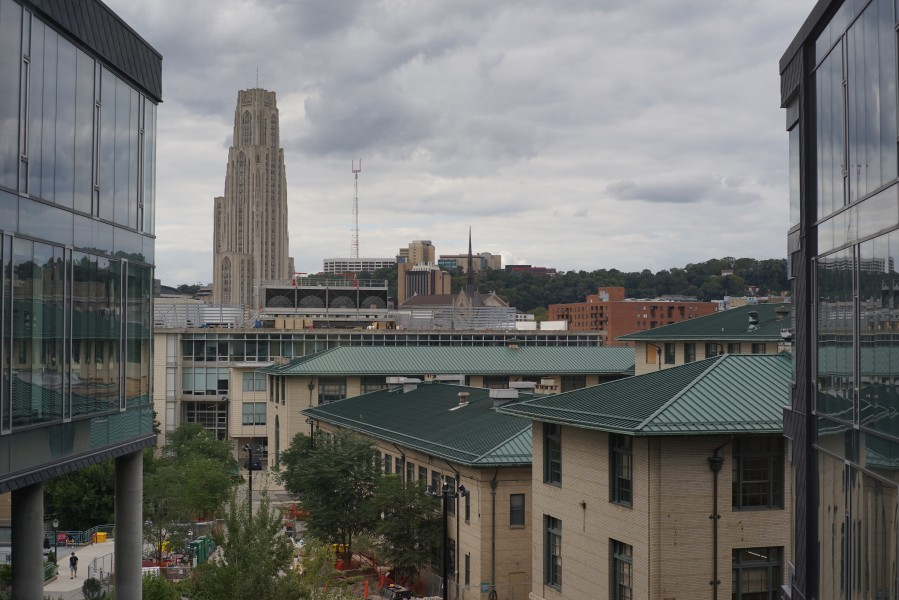 Cathedral of Learning as seen from Gates Hillman Center