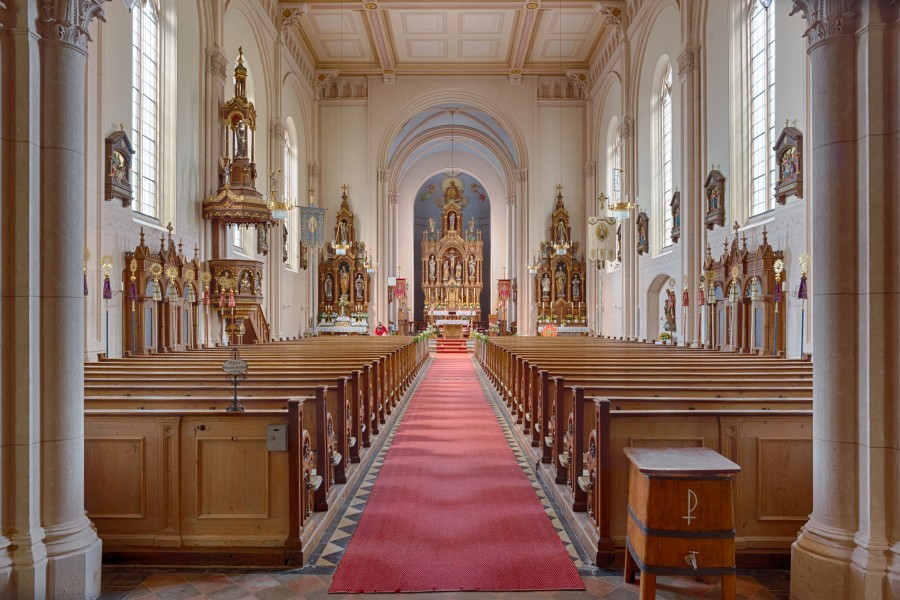 Catholic Parish Church St. Agatha- view towards the high altar