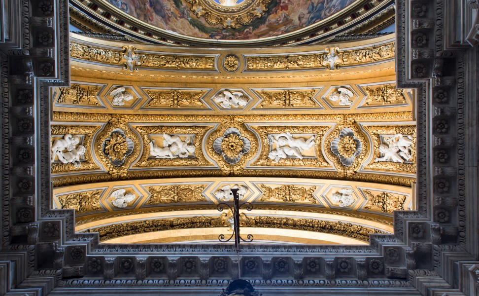 Ceiling decoration of the chapel Sant'Agnese in Agone (Roma)