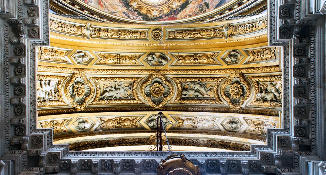 Ceiling decoration of the chapel Sant'Agnese in Agone (Rome)