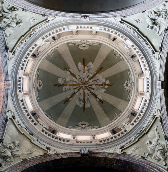 Ceiling of left chapel in Duomo (Verona)