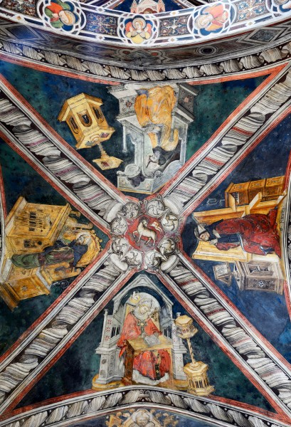 Ceiling of the church in Monastero del Sacro Speco (Subiaco)