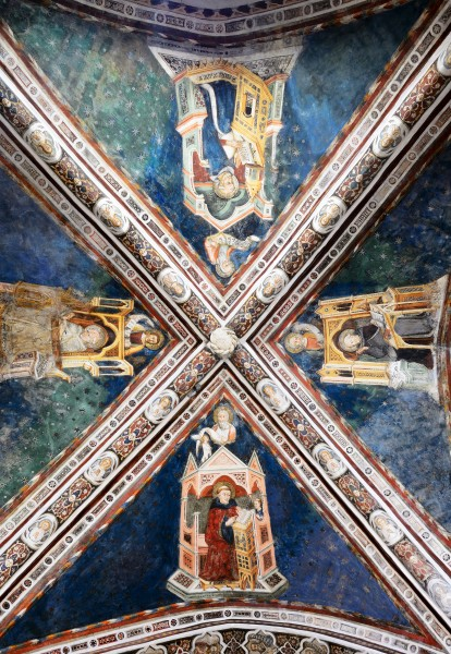 Ceiling of the church in Monastero del Sacro Speco (Subiaco) 2