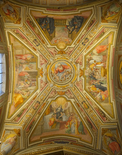 Ceiling of the left chapel in Sant'Agostino (Rome) HDR