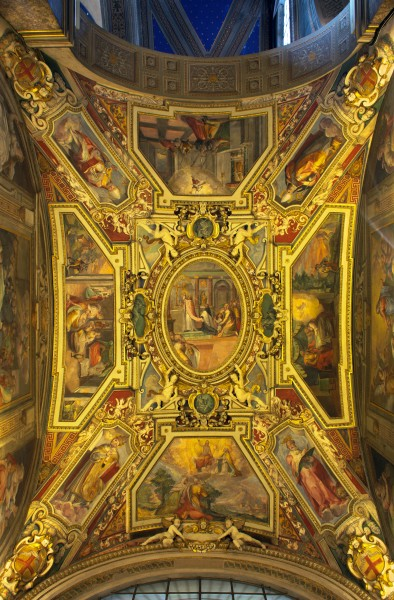 Ceiling of the right chapel in Sant'Agostino (Rome) HDR