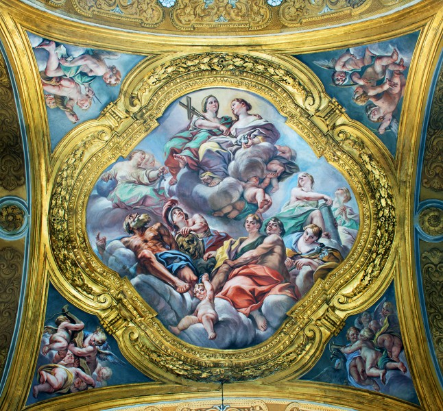 Ceiling on the second right chapel in San Carlo al Corso (Rome)