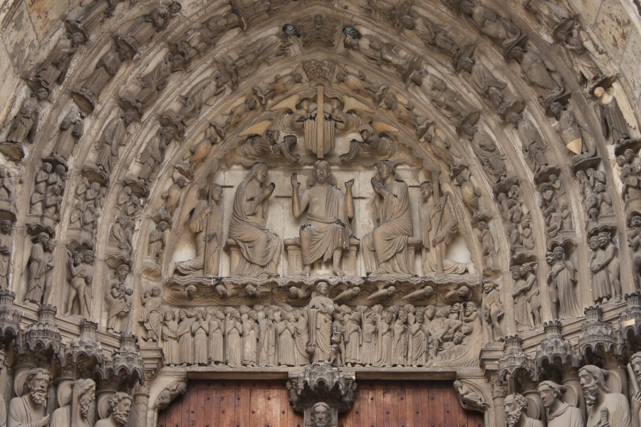 Chartres - portail sud - tympan