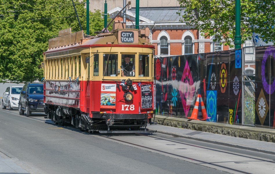 Christchurch Tram at Cathedral Square 03