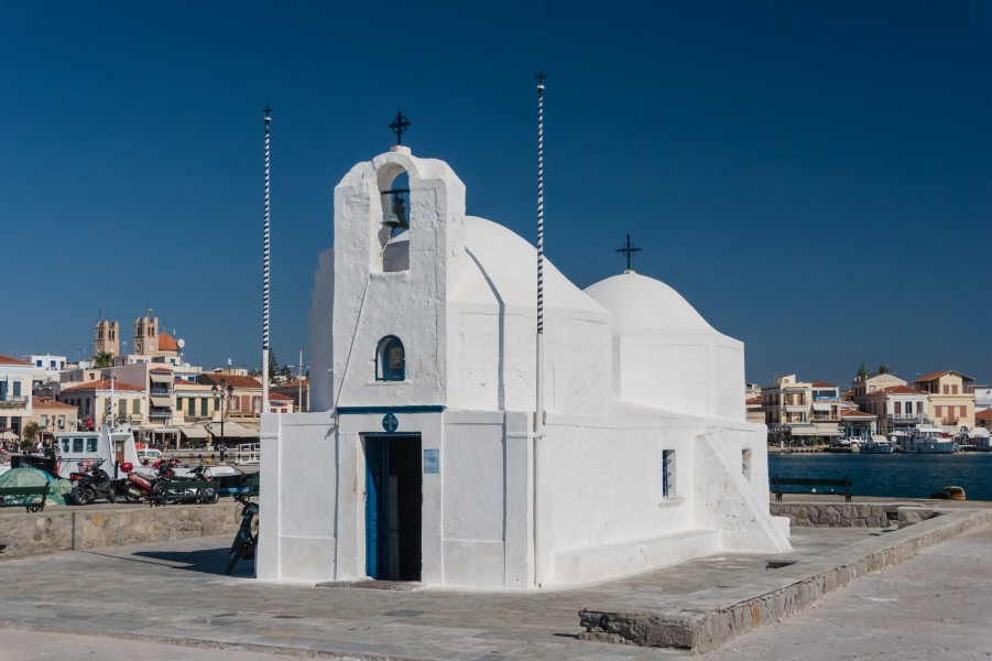 Church Agios Nikolaos Aegina harbor, Greece